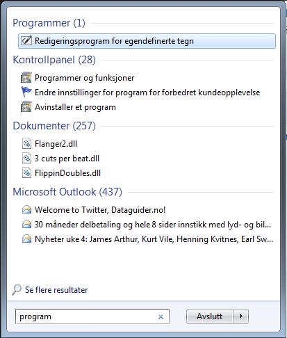 startmeny_programmer_og_funksjoner